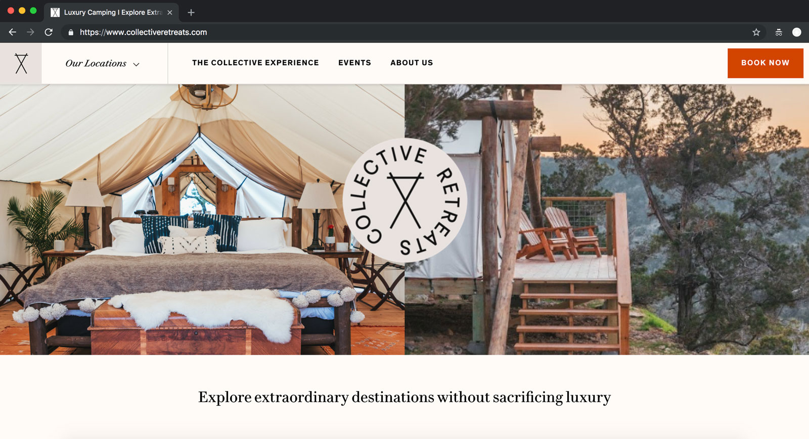 collective retreats screenshot