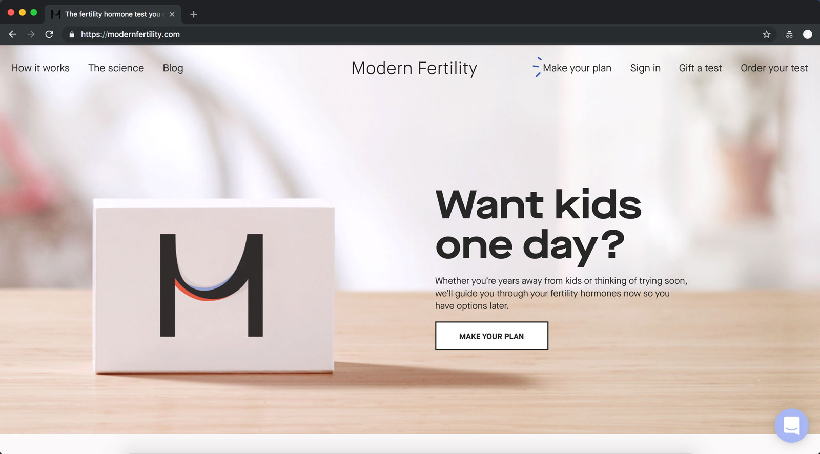 modern fertility screenshot