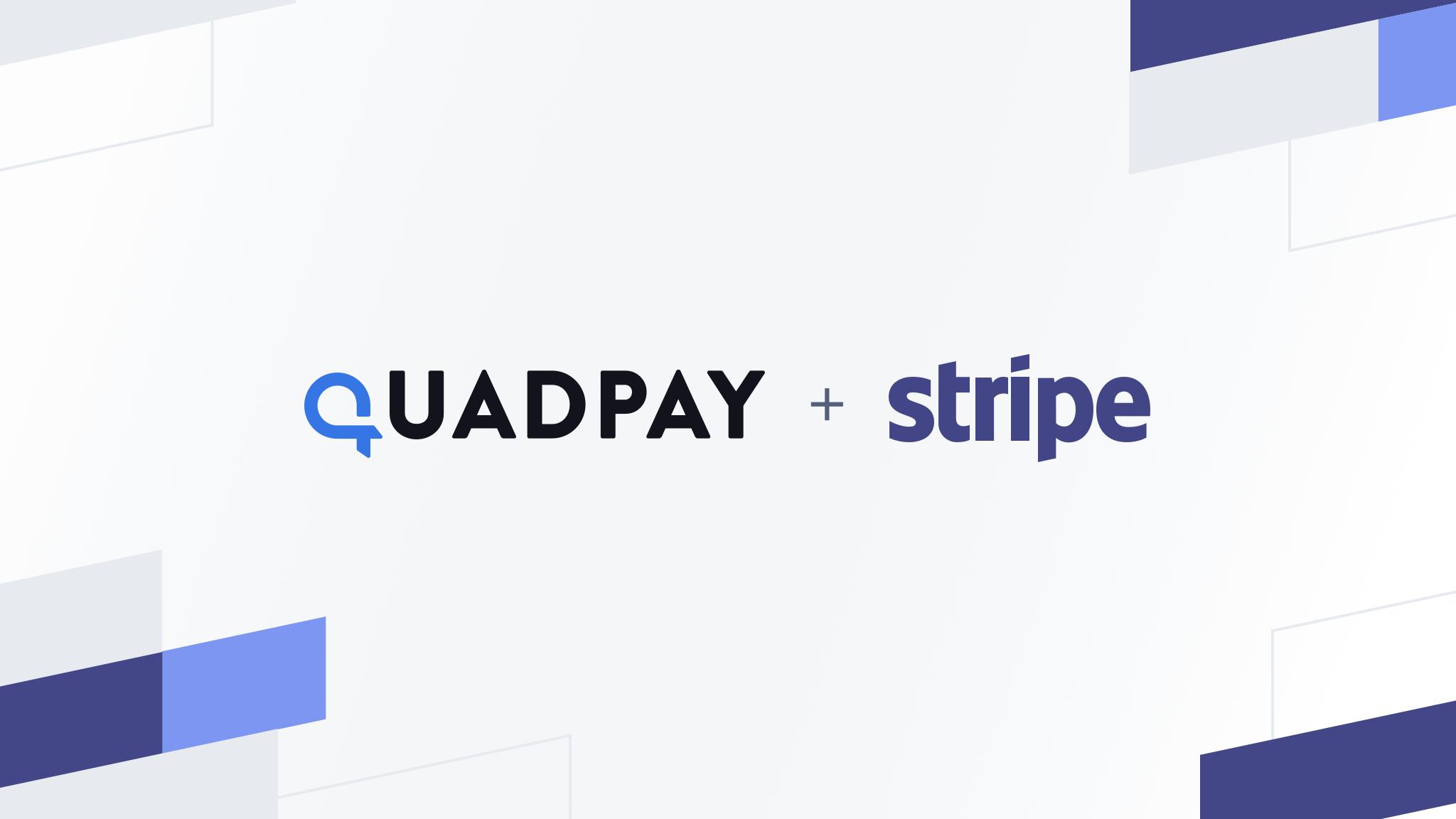 quadpay + stripe logos